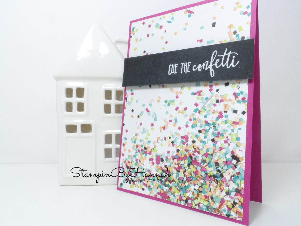 Make it monday birthday card week stampinbyhannah make it monday how to make a quick and simple birthday card using picture perfect party bookmarktalkfo